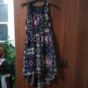 Floral high low racer back dress size x-small